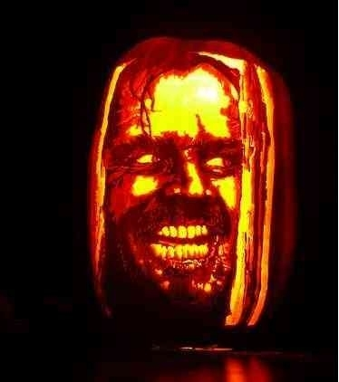 Jack Nicholson shining carved pumpkin