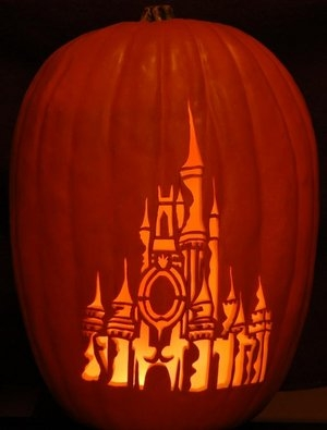 Disney Castle Pumpkin