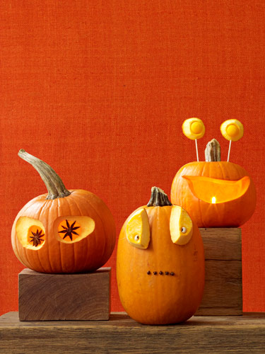 Nicely Carved Funny Halloween Pumpkins