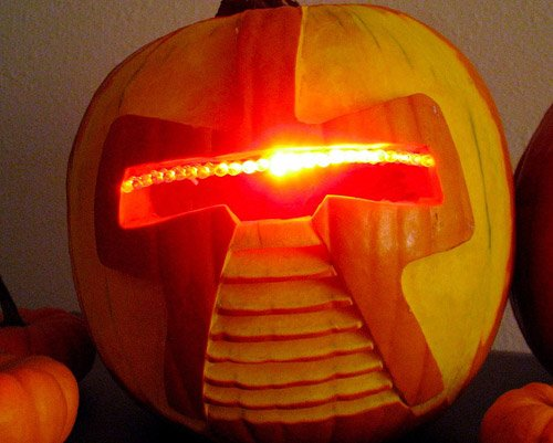 Robot Face Pumpkin Carving