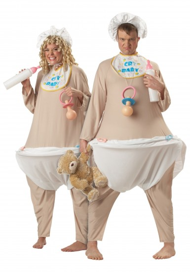 Couple in Cry-Baby Costume