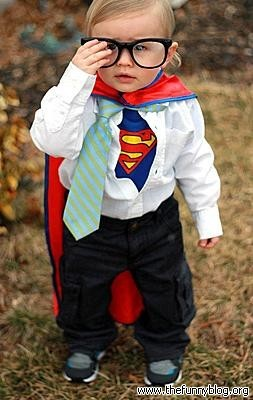 Cute Funny Baby in Superman Halloween Costume Cute Funny - Cute Funny Halloween Costumes