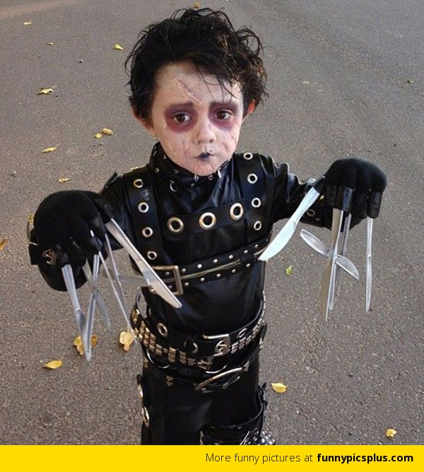 Funny Wolverine Costume  sc 1 st  Funny Halloween Pictures & Kid Dressed Up as Edward Scissorhands Funny Wolverine Costume ...