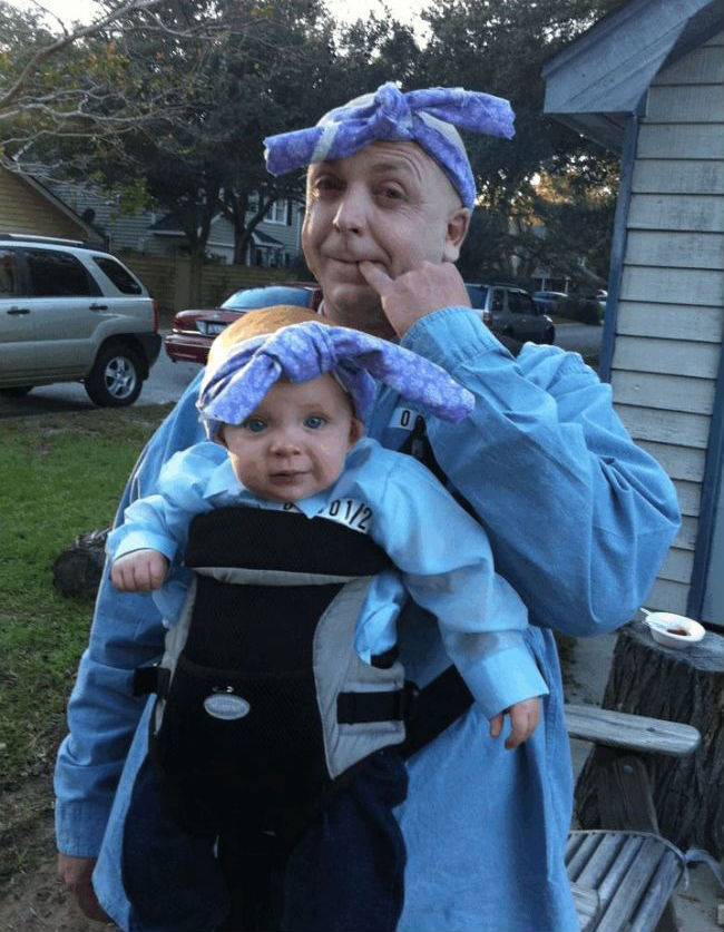sc 1 st  Funny Halloween Pictures & Father-Son Enjoying Halloween in Funny Costumes