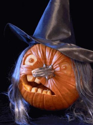 Crooked Face Witch Pumpkin