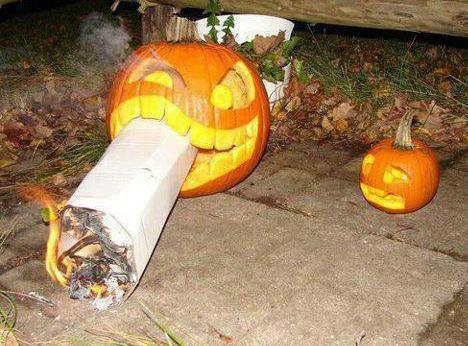 Jack-o-Lantern Got A Big Cigar